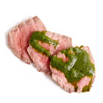 instant pot roast beef with chimichurri