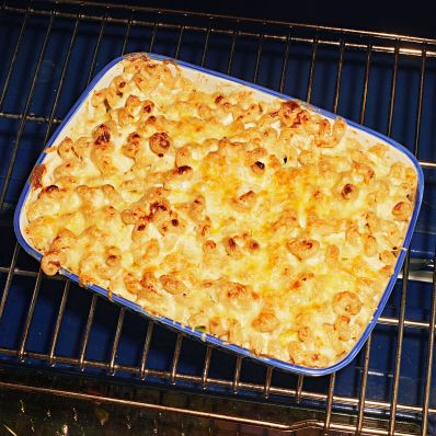 stuffed mac and cheese in oven