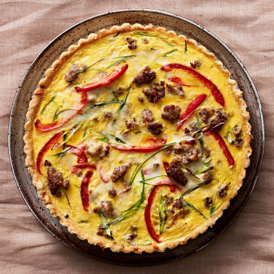 quiche with pepper cheddar and sausage