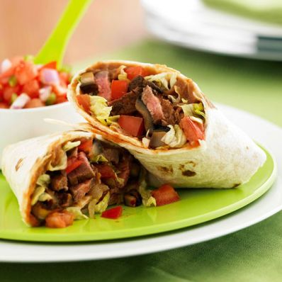 Steak and Mushroom Burrito