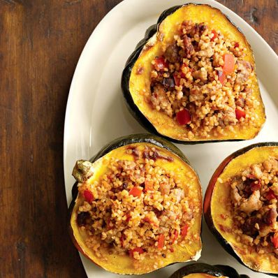 Bulgur-Stuffed Squash