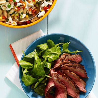 London Broil with Rice Salad