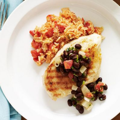 Grilled Chicken & Black Bean Salsa