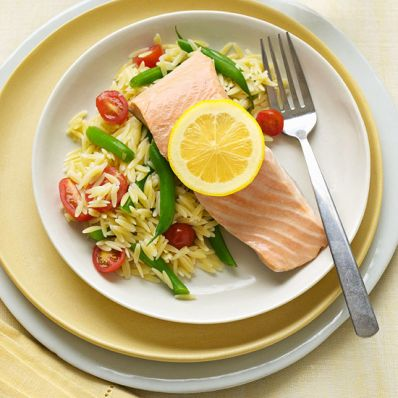 Poached Salmon with Sauce Verte