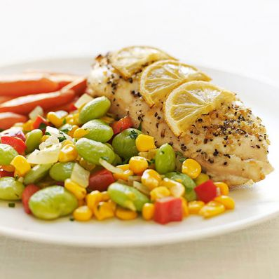 Lemon Pepper Chicken and Balsamic Succotash