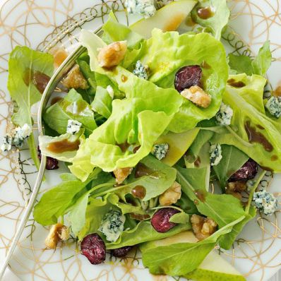 Pear Salad with Sugared Walnut