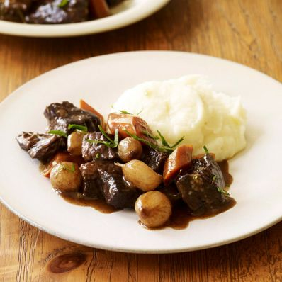 Wine-braised Beef with Celery Root Purée