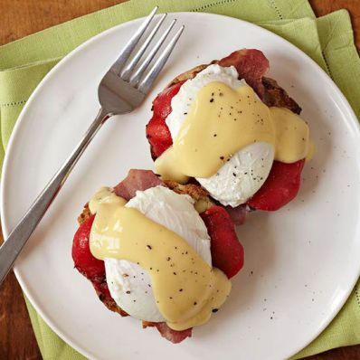 Eggs Benedict with Roasted Peppers