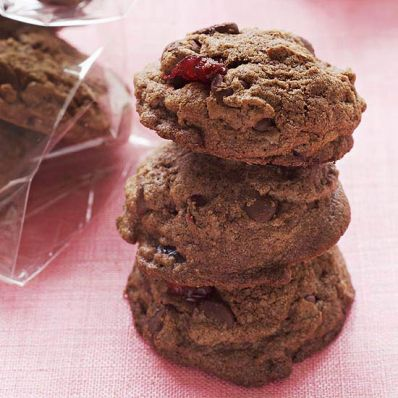 Gluten-Free Double Chocolate Chip Cranberry Cookies