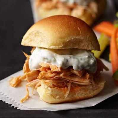 recipe: easy buffalo chicken sliders [29]