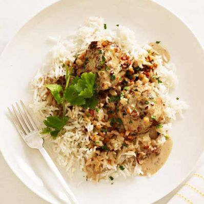 Chicken Meatballs with Peanut Sauce
