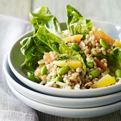 Wheat Berry and Edamame Salad
