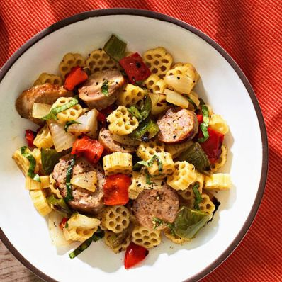 Grilled Sausage and Pepper Pasta Salad