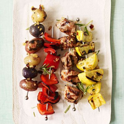 Pork and Veggie Skewers