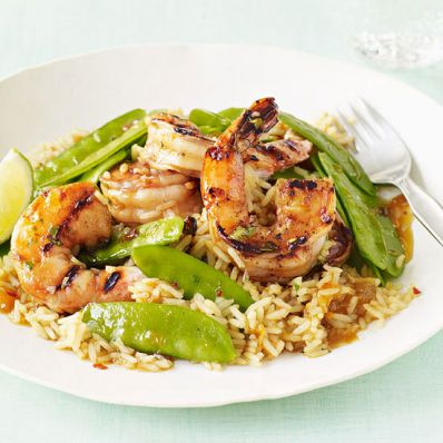 Apricot-Lime Glazed Shrimp
