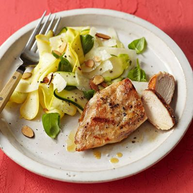 Chicken and Shaved Squash Salad