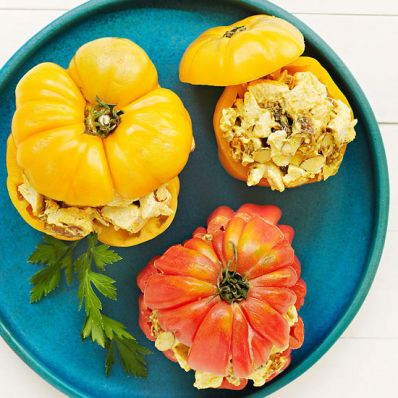 Curried Chicken Salad-Stuffed Tomatoes