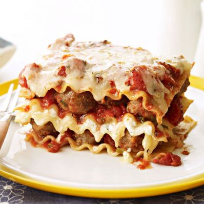 Mini Meatball Lasagna