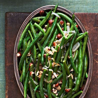 Green Beans, Hazelnuts and Shallots
