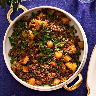 Red Rice with Roasted Butternut Squash