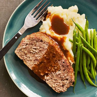 Meatloaf and Buttermilk Mashed Potatoes | Family Circle