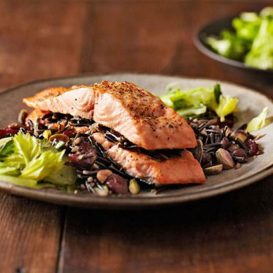 Salmon and Wild Rice Napoleon