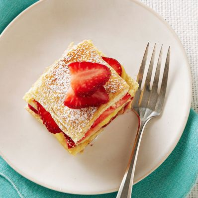 Coconut-Strawberry Napoleons