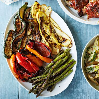 Grilled Summer Vegetables and Romesco Sauce