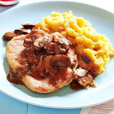 Pork Scaloppine with Winter Squash