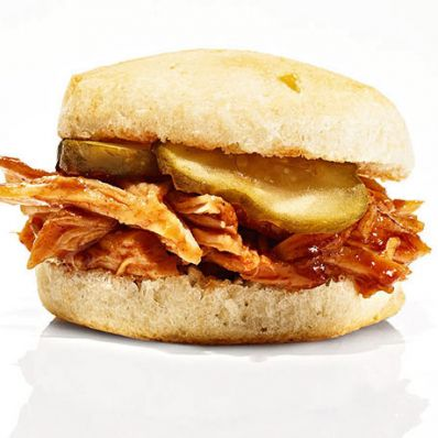 BBQ Pulled-Chicken Sliders