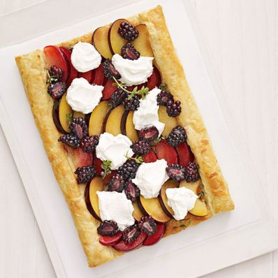 Plum and Blackberry Tart