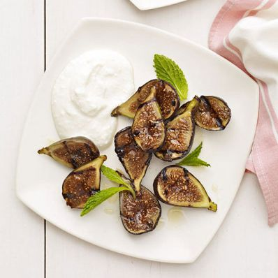 Grilled Figs with Rum-Infused Ricotta