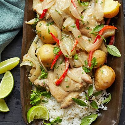 Green Curry Chicken and Potatoes