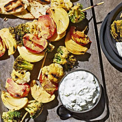 Tandoori Grilled Vegetables with Mint Raita