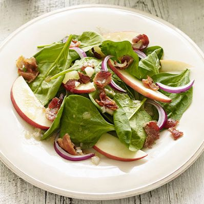 Spinach and Pink Lady Apple Salad