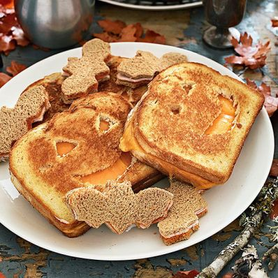Grilled-Cheese Pumpkin Cutouts