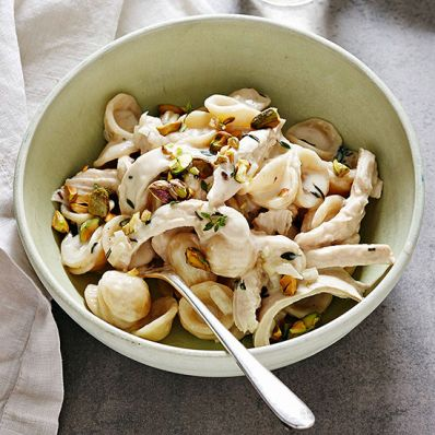 Orecchiette with Chicken and Creamy Rosemary Sauce