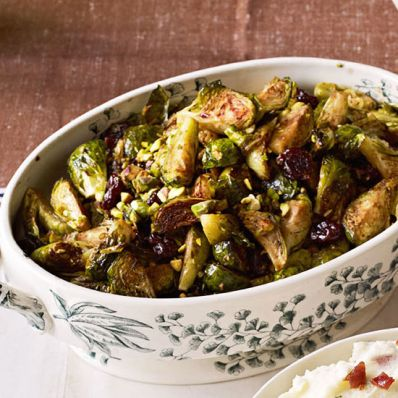 Brussels Sprouts with Cherries and Pistachios