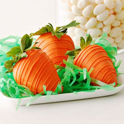 Dipped Strawberry Carrots