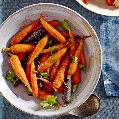 Orange-Infused Heirloom Carrots