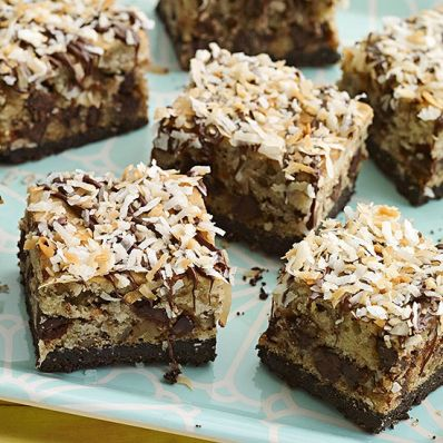 Chocolate-Coconut Bars with Walnuts