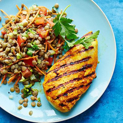 Tandoori Chicken and Lentil Salad