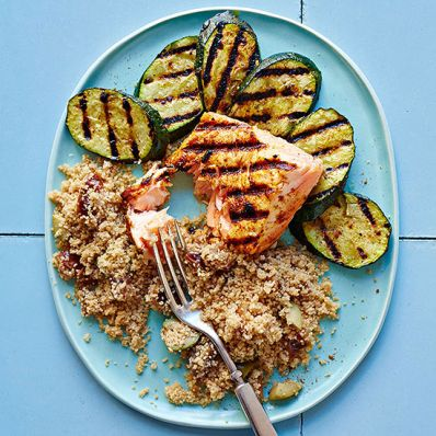 Moroccan-Spiced Salmon and Zucchini