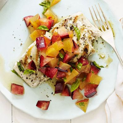 Grilled Mahi Mahi with Plum Salsa