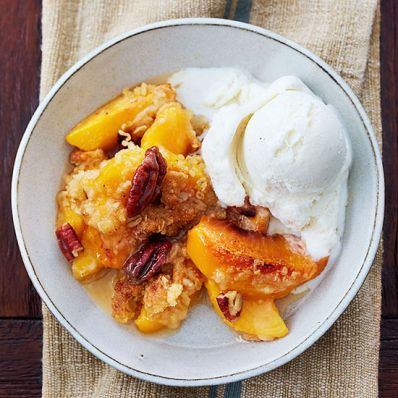 Hill Country Peach Crisp with Pecan Topping