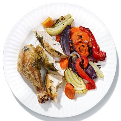 Lemon-Fennel Roasted Chicken and Vegetables