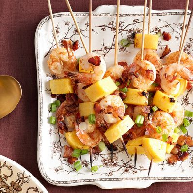 Shrimp and Grits Skewers