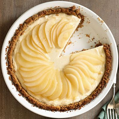 Maple-Pear Cheesecake Pie