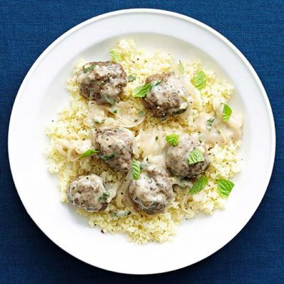 Middle Eastern Meatballs and Couscous