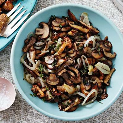 Wild Mushrooms and Shallots